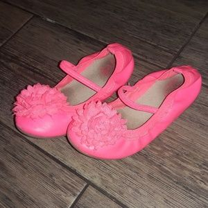 Pink little girl slippers shoes